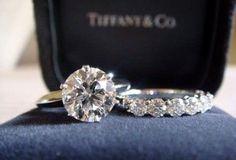 Tiffany's engagement ring and wedding band