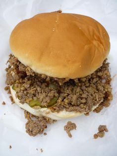 Slow Cooker Loose Meat Sandwich - like Maid Rites!