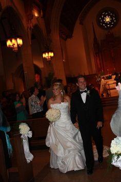 Kate and Caleb Grindle, leaving St. Ignatius Church