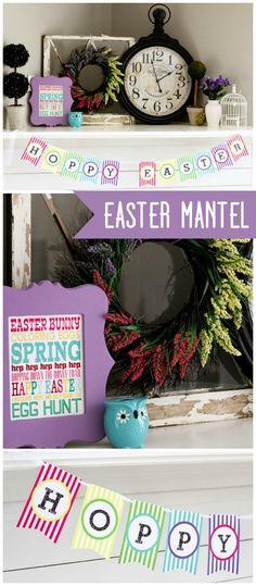 Gorgeous Easter Mantel