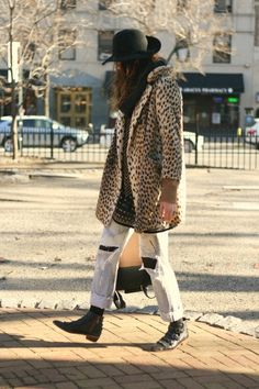 Leopard and felt