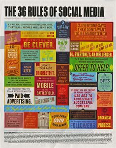 Here are the 36 rules of social media - Do you have some more to add?