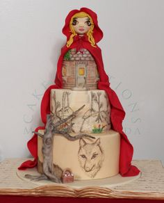 Little Red Riding Hood - by CakeCreationsbyME @ CakesDecor.com - cake decorating website