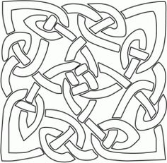 Celtic Knot Coloring Page, adult coloring picture