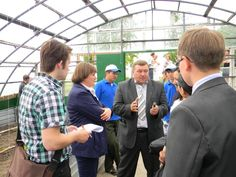 UN Volunteer, Toni Paju (letft) engaged in discussion on volunteer efforts in environmental activities, with the Governor (centre), CSO leaders and youth volunteers. The photo was taken inside a greenhouse with drip irrigation system, supported by UNDP. (UNV programme, 2012). Read about his year in Kazakhstan: http://www.unv.org/en/perspectives/doc/volunteering-to-coordinate-volunteers.html
