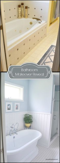 Dramatic bathroom makeover by @Traci Puk @ Beneath My Heart