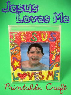 jesus loves me bible craft. I LOVE this idea for BIG Kids Camp! This craft would be perfect for Day 2 - the lesson on John 3:16 and the BIG Deal God made with His Son, Jesus, to save us from sin because He loved us so much!