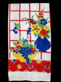 Vintage Startex kitchen towel