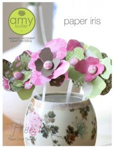 free amy butler paper iris pattern