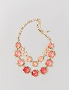 Coral Statement Necklace   Dressbarn