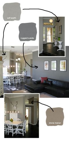 grey paint colors. Soft earth?? Dining room