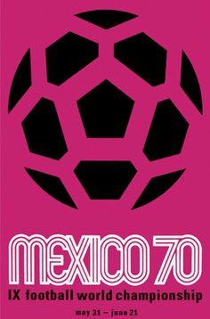 Affiche Officielle de la Coupe du Monde de Football de 1970 au Mexique !