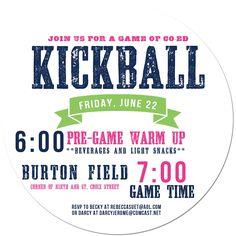kickball & cool flyer design