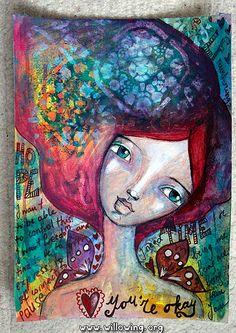 Mixed Media art journaling by Tamara Laporte