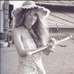 Stevie Nicks twirling her baton