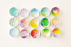 watercolor magnet shadow boxes