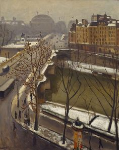 Albert Marquet (French, 1875 -1947) The Pont Neuf in the snow, late 1920's. Oil on canvas. Art Gallery NSW.