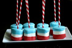 4th Of July Marshmallow Pops | Wenderly