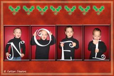 Cute Christmas idea :)  This could be done with JOY too