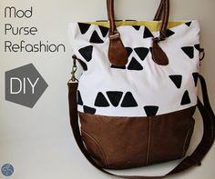 Me Sew Crazy: Mod Purse Refashion, a Tutorialrefashioned purse from me sew crazy