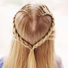 braid your kiddos hair in a heart