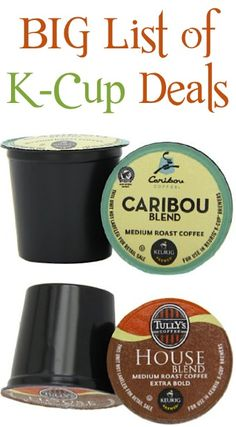 BIG List of K-Cup Deals ~ as low as 42c each + FREE Shipping!! #keurig