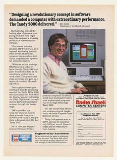 Who's cuter? The Tandy or Bill Gates?(1984)