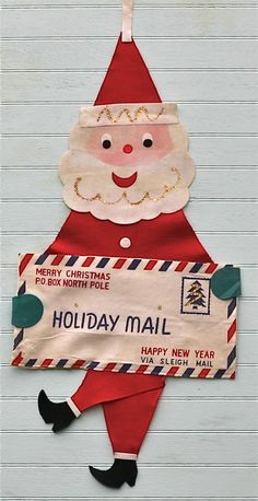 vintage felt santa -letters to the north pole.