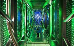 Google's Data Center #green #color