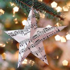 Sheet Music Christmas Ornaments