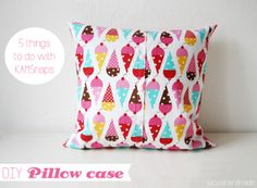 5 things to do with KAMSnaps - DIY: Pillow case by @Lu Poppins