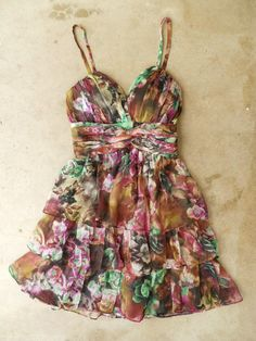 Tiered Watercolors Dress