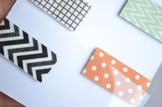 Washi Tape Magnetic Bookmarks