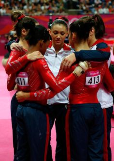 GOLD- USA Women's Team Gymnastics: Gabby Douglas, Ally Raisman, Kyla Ross, McKayla Maroney and Jordyn Wieber. Photo: Jamie Squire.