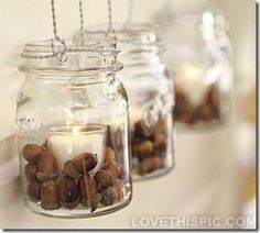 DIY Autumn Mason Jar Candles diy crafts craft ideas easy crafts diy ideas diy idea diy home easy diy diy candles for the home crafty decor home ideas diy decorations autumn crafts autumn diy autumn craft fall crafts fall craft