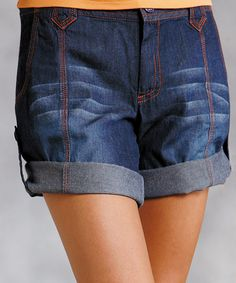 Look at this Roper Blue Denim Shorts - Women on #zulily today!
