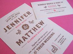 Save the date + invitation design. #weddingmonth #typography