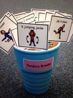 Cute idea! Sensory Cards Autism