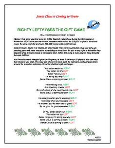 Christmas game ideas on Pinterest | Christmas Gift ...