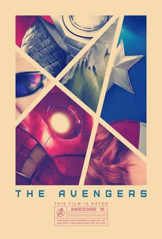 Nice Avengers fan poster by Dr. Mierzwiak at F Yeah Movie Posters.