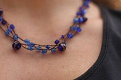 beaded #crochet necklace free pattern