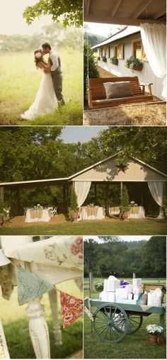 Country Themed Wedding Ceremony
