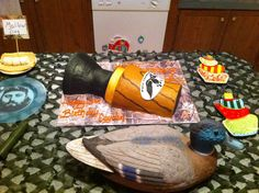 Duck call cake for Duck Commander birthday party.