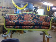 Newly Upholstered 1920s Duncan Phyfe Style Sofa