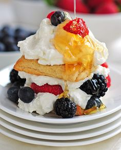 Citrus Tea Biscuits in a Berry Honey Shortcake