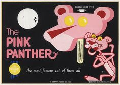 Pink Panther ice cream with Bubble Gum eyes.
