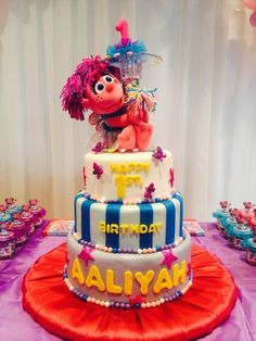 Fun cake at an Abby Cadabby girl birthday party!  See more party ideas at CatchMyParty.com! birthdaysparti idea, girl birthday, girls birthday parties, parti pretti, cake cake