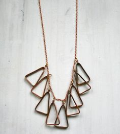 Copper Triangle Necklace by Chain Chain Chained