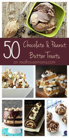 50 Chocolate & Peanut Butter Treats on Real Housemoms
