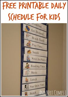 "Not Just Preschool: Free Printable Daily Schedule from ""Next Comes L.""..."